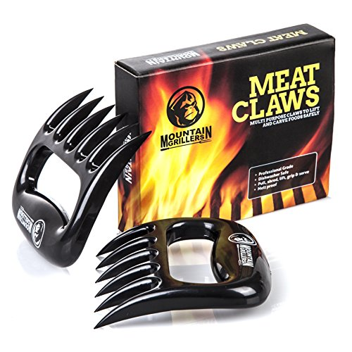 PULLED PORK KRALLEN - Hochwertige Meat Claws für amerikanisches BBQ Pulled Pork - Fleischkrallen aus Kunststoff zum Zerteilen - Spülmaschinenfeste Bärentatzen - Geschenkidee