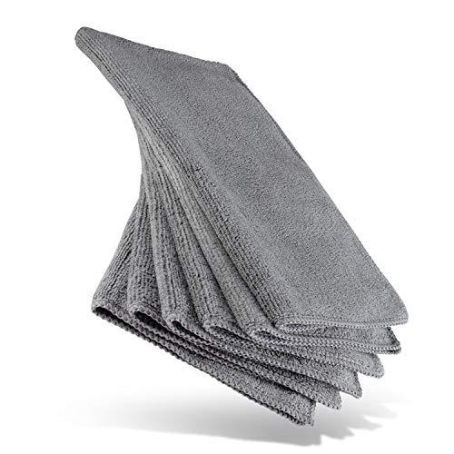 HEYNNA  Mikrofasertücher für die Reinigung in Haushalt und Küche - Reinigungstücher/Putzlappen Set 30x30cm, 6 Stück grau/anthrazit