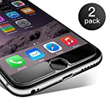 iPhone 6 6S Panzerglas, Coolreall 2 Stück Ultra-klar Schutzfolie für 4,7 Zoll (0,25 mm)
