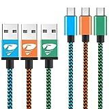 Micro USB Kabel [3-Pack, 2m] 2A USB Ladekabel - Schnellladekabel für Android Smartphones, Samsung, HTC, Sony, Nexus und mehr Rephoenix