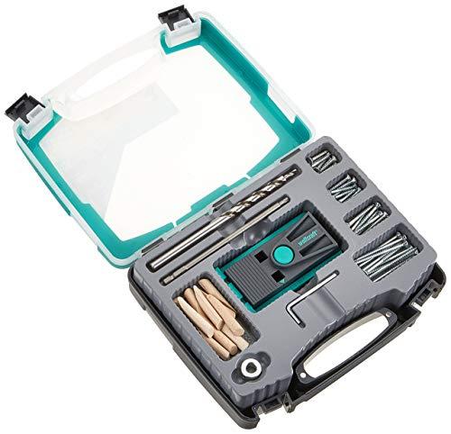 wolfcraft Undercover Jig-Set TX 4642100 - Zuverlässige Bohrhilfe mit Schrauben & Dübeln - Für Holzverbindungen & das Bohren von Taschenlöchern