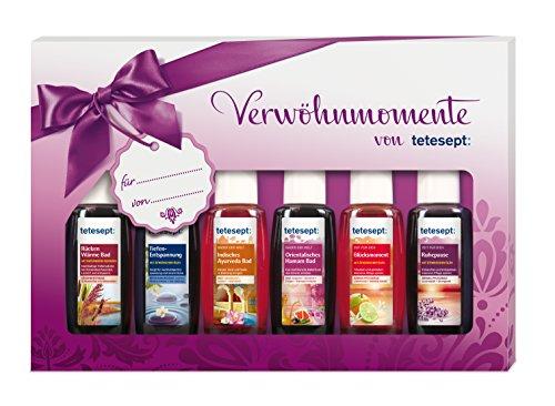 Tetesept Bäder Geschenkset Verwöhnmomente, 1er Pack (6 x 20 ml)