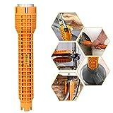 EMAGEREN Sanitär-Werkzeuge Spüle Schraubenschlüssel Mehrzweck-Rohrschlüssel, Rohrschlüssel, Spültisch-Armatur, Montagewerkzeug für Toilettenschüssel, Waschbecken, Wasserhahn, Klempner