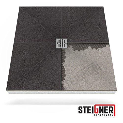 Duschelement MINERAL BASIC Duschboard befliesbar 90x120 cm Ablauf WAAGERECHT -- EPS Bodenelement ebenerdig barrierefreie Duschwanne bodengleich