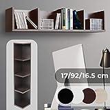 CD DVD Regal - Für bis zu 80 CDs, 17x92x16,5cm, 4 Fächer, Holz, Farbwahl - Ständer, Wandregal, Aufbewahrung, Bücherregal, Holzregal, Büroregal, Medienregal
