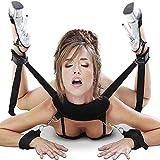 CKSOHOT SM Bondage Set BDSM Fesselset SM Sexspielzeug Extrem Betten Fesseln mit Handschellen mit Augenmaske für Paare Gays, für Einsteiger und Erfahr