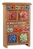 Standschränkchen Keramik-braun-GZ-1276PP, Keramikkommode, Apothekerschränkchen, Schmuckkästchen