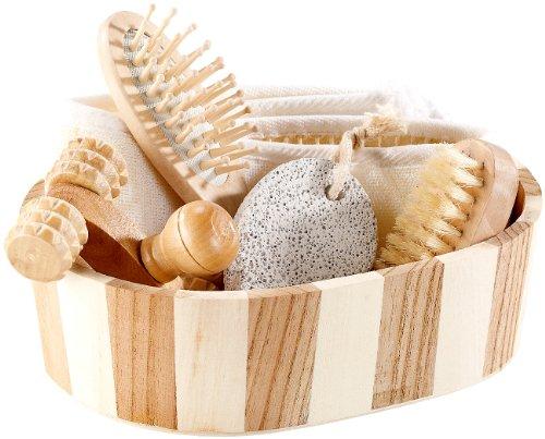 newgen medicals Wellness Set: 6-teiliges Badeset aus Naturmaterialien (Saunaset)