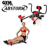 Abstorm Gymform Fitnessgerät für Bauch, Beine und Po. Bauchtrainer mit 3 Widerstandsstufen