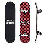 NACATIN Skateboard Komplettboard für Kinder Jungendliche und Erwachsene mit ABEC-9 Kugellager 92A Anti-Rutsch-Glatt und Mute Rad Funboard für Anfänger (602)