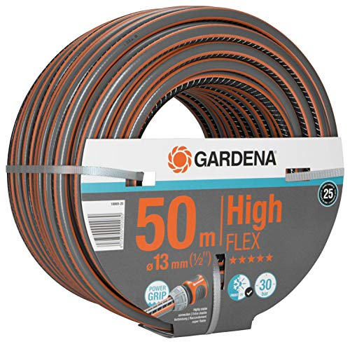 GARDENA Comfort HighFLEX Schlauch 13mm (1/2'), 50 m: Gartenschlauch mit Power-Grip-Profil, 30 bar Berstdruck, formstabil, UV-beständig, verpackt (18069-20)