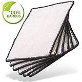 Meisterfaktur Bambus Putztücher ohne Mikrofaser für Küche [6 Stück] - Hochglanz Putzlappen Set für Spiegel, Bad & Fenster - Waschlappen Tücher zur Reinigung - Tuch Lappen ohne Microfaser & Baumwolle