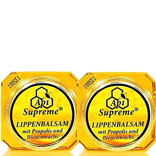 ApiSupreme Lippenbalsam Propolis (2x12ml) Vertrieb: Naturprodukte-MV Lippen Balsam Pflege Balm Api Supreme
