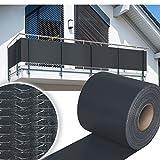 HG 35mx19cm Sichtschutzstreifen Stabmattenzaun Streifen PVC verschiedene Modelle für den Gartenzaun oder Balkon