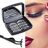 3D Magnetische Wimpern, Künstliche Wimpern Set, Wiederverwendbare Kunstfaser Magnetische Magnet Wimpern, Dual Magneten Magnetic False Eyelashes (brown)