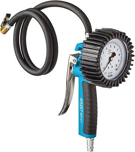 Hazet Reifenfüll-Messgerät (geeicht, großes Manometer: 80 mm Durchmesser, Messbereich: 0 bis 10 bar) 9041G-1