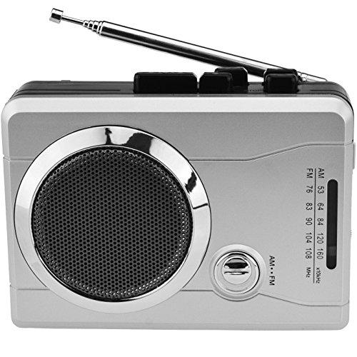 DIGITNOW! Mini Stereo Audio Retro Personal Kassettenspieler Wireless AM / FM Radio und Voice Radio Kassettenrecorder mit Kopfhörer