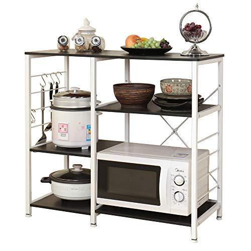 SogesHome 3 Ablage Küchenregal Bäcker Regal Standregal Mikrowellen Halter Küchen regallagerung Küchenwagen Servier