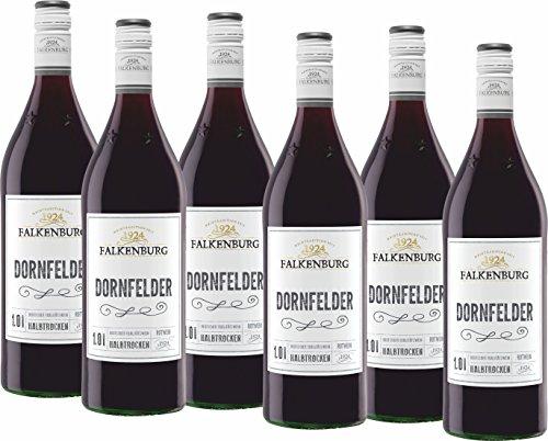 Falkenburg Dornfelder QbA Rotwein halbtrocken (6 x 1 l)