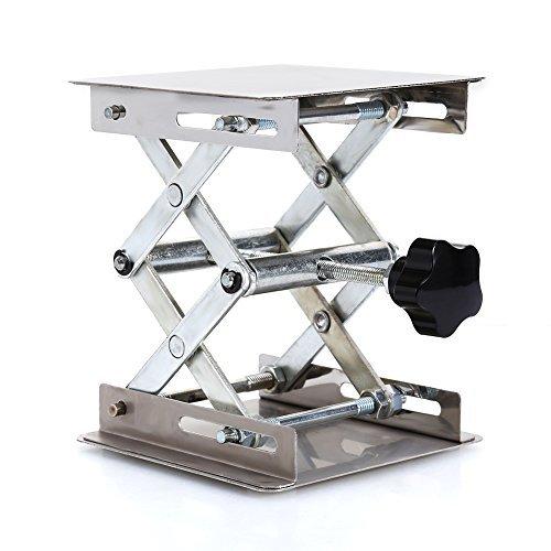 10,2x 10,2cm Scientific Lab Labor Scherenwagenheber, Edelstahl LAB Lifting Plattform Ständer Rack Schere lab-lift Lifter Manuelle Steuerung