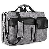 DTBG Nylon mehrzweck Businesstasche mehrfachfach Reise Rucksack geräumig Laptop Tasche Messenger Bag Aktentasche Computer Schultertasche Wanderntasche Daypack für 17,3 Zoll Laptop / Macbook / Tablet, Grau