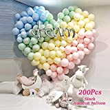 LAKIND Bunte Luftballons 100-Pack Latex Ballons Luftballons Bunt Latexballons für Hochzeit Weihnachten Geburtstag Luftballon Party Deko