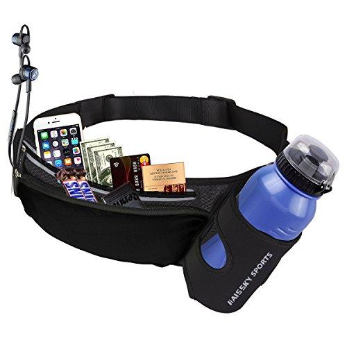 Guzack Sport Gürteltasche Hüfttasche Bauchtasche für Trink flasche, Pockets Waistpacks Outdoors für iPhone 7/7 Plus/Samsung Galaxy S8/S8 edge bis zu 5,5 Zoll, für Fitness Ausgeführt