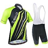 BXIO Männer Fahrradbekleidung mit Trägerhose 5D Gel Pad XXL Mulit Farbe