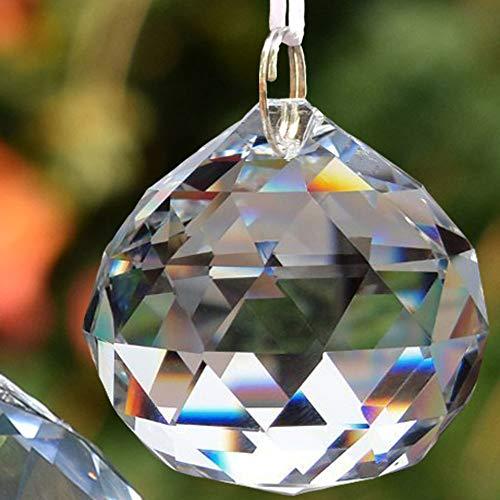 EasyBravo Sonnenfänger Klarer Kristallball Weihnachtskugel 40mm,8PCS+Hängenden Kit