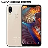 UMIDIGI A3 Pro Smartphone ohne Vertrag günstig 5.7 Zoll Notch Display, Android 9, 5G WiFi Handy 3GB+32GB ROM(256GB erweiterbar), Benachrichtigung LED, Global Version, Dual SIM, 12MP+5M Kamera-Gold