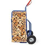 BITUXX Brennholz Sackkarre Kaminholzkarre Brennholzkarre Holzkarren Holztransporthilfe mit Luftbereifung bis 100kg