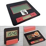 Digitale Küchen-Waage mit Wandhalterung Digital-Waage 2 g - 5000 g elektronische Waage mit Batterien LCS Display Sicherheitsglas-Platte Brief-Waage auch als Küchenuhr verwendbar