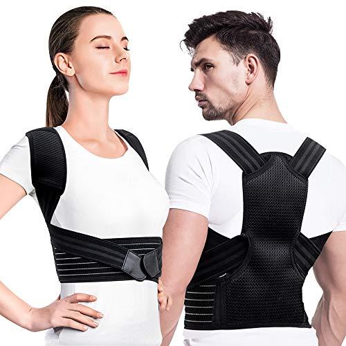 Creatck Upgrade Haltungstrainer, Geradehalter zur Haltungskorrektur Rückenstütze Rückenbandage Haltungstrainer Haltungskorrektur Rücken Verstellbare Rückenstütze für Damen Herren
