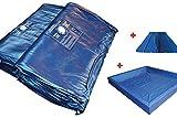 Wasserbettmatratzen Wassbett Matratze Wasserkern für Dual System (100% = 0-1,5sek., 200 x 220 cm)