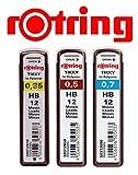 rotring Hi-Polymer Feinminen, 3er-Set HB 0,35/0,50/0,70mm