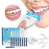 Luckyfine Teeth Whitening Kit Zu Hause Professionelle Zahnaufhellung Set Zahnweiß-Bleichsystem, 10x Teeth Whitening 2x Dental Trays Gel Kit & Laserlicht
