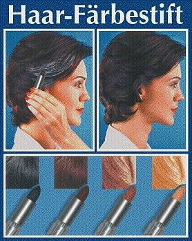WENKO 3512012500 Haarfärbestift Schwarz - einfache Anwendung, Grauabdeckung, Chemie, 2 x 7.4 x 2 cm, Silber