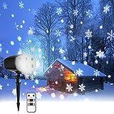 LED Projektionslampe mit Fernbedienung 9W NACATIN LED Weihnachtsbeleuchtung Außen und Innen IP65 Stimmungslichter für Weihnachten Party Hochzeit