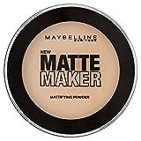 Maybelline Matte Maker Puder Nr. 20 Natural Beige, nimmt überschüssiges Öl auf der Haut auf, für einen perfekt mattierten Teint, angenehmer Tragekomfort, langanhaltend, 16 g