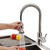 Homelody Küchenarmatur Ausziehbar Wasserhahn Küche mit Brause Mischbatterie Spültischarmatur Spültisch Spülbecken Wasserhahn Armatur Spültischbatterie für Küche