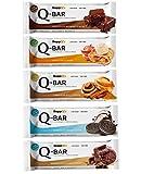 Protein Riegel Low Carb Q-Bar – Whey Isolat Proteinriegel Von Supplify Zum Abnehmen Oder Muskelaufbau – Mix Box 12x60g 5 Sorten - ein echter power-bar als Proteinpulver und Eiweiß Shake Ersatz