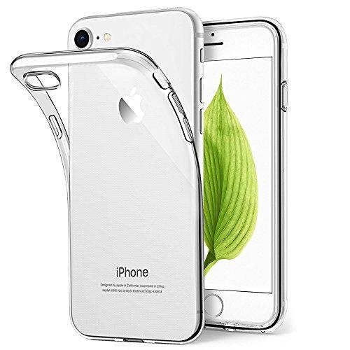 Schutzhülle für iPhone 7, Bodyguard [Crystal Clear] Soft Silikon Bumper Case Cover, Ultra Dünn Durchsichtige Handyhülle für iPhone 8/iPhone 7 4.7'' - Transparent