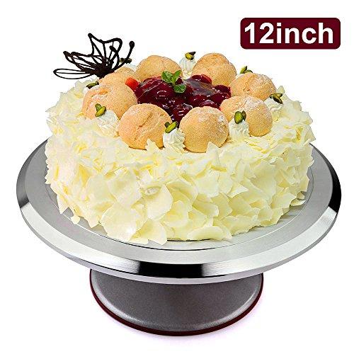 Tortenplatte Drehbare Tortenständer, Uten Kuchenständer Kuchen Drehteller Cake Decorating Turntable für Backen Gebäck, Zuckerguss