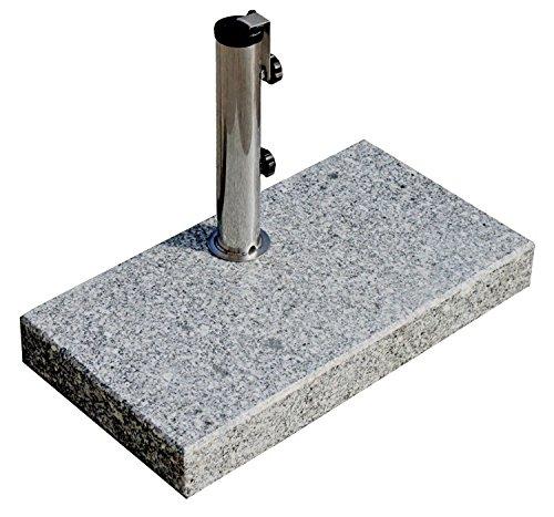 ProKIRA Sonnenschirmständer / 25 kg / Schirme bis Ø200cm / Granit-Balkonschirmständer / eckig