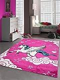 Carpetia Kinderteppich Spielteppich Mädchen Einhorn Pink Größe 120x170 cm