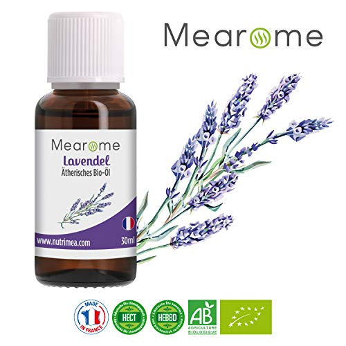 Lavendelöl BIO (lavendula angustifolia) Ätherisches Öl 100% naturrein Duftöl, Aroma für Diffuser 30ml vegan und ohne Zusatzstoffe