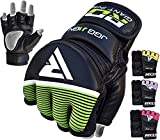 RDX MMA Handschuhe Kinder Kamfsport Boxsack Sparring Training Grappling Gloves Junior Freefight Sandsack Maya Hide Leder Punchinghandschuh(MEHRWEG)