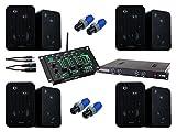 Pronomic Gastro I Komplettanlage (4 x Lautsprecher Boxen Paar, Endstufe, Verstärker, USB, Mixer, Audiokabel, Speakonstecker)
