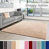 Shaggy-Teppich | Flauschiger Hochflor fürs Wohnzimmer, Schlafzimmer oder Kinderzimmer | einfarbig, schadstoffgeprüft, allergikergeeignet in Farbe: Grau; Größe: 080x150 cm