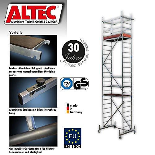 ALTEC Rollfix 700, Arbeitshöhe 7 m neu, inkl. Rollen, Fahrtraverse und Wandanker, TÜV-geprüft
